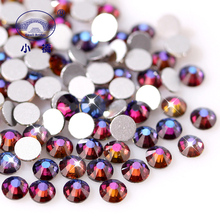 Flame Blue Glass Rhinestones Strass Crystals For Nails Art Flatback Loose Diamond Glitter Gems Supplies On Clothes Shoes Z180(China)