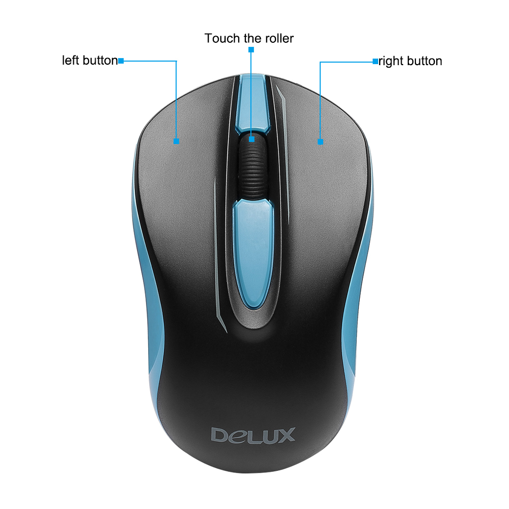 optical wireless mouse Delux wireless mouse