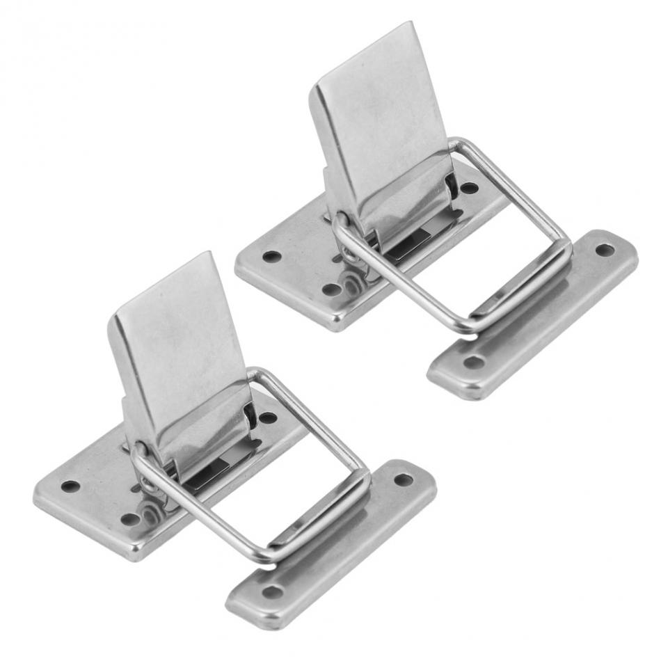 Spring Hasp Draw Toggle Latch Lock Cabinet Box Hasp Latch Catches Toolbox Fastening Buckles 2Pcs Hasps Latches Stainless Steel 201 Case Latch Clasp Hasps