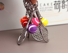 Sports alloy souvenir, tennis racket, metal key buckle, pendant, movable small gift, Austrian sports accessories
