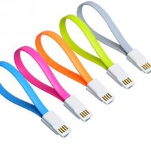 1Pc 22cm Magnet Charger Sync Data Micro USB Flat Noddle Cable For Samsung Galaxy Android Mobile Phone