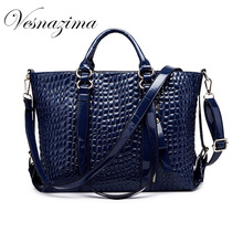 VZ fashion women pu leather handbag black patent leather women shoulder bags high quality sapphire ladies big tote red VZ425YL