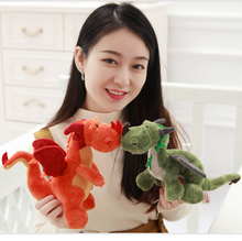 Direct deal The down cotton Tricolor dinosaur plush toy Bedroom doll decoration High quality and low price 23cm