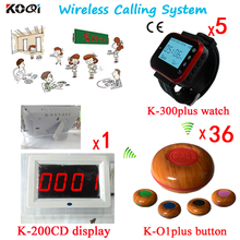 Customer Call Waiter Cheap 433.92mhz Electronic Number Display Equipment Wireless Paging System With English Prompt Screen