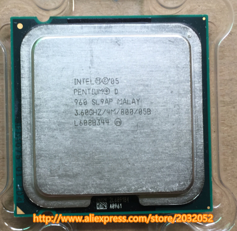 Original lntel PD 960 Desktop cpu for  Pentium D 960 4M Cache 3.60 GHz 800 MHz LGA 775 (working 100% Free Shipping)