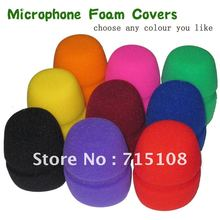 free Shipping 10pcs Lot Flat Microphone Windscreen Foam Cover Microphone Grill Audio Microphone Wiindshield karaoke microphone(China)