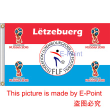 2018 Russia Football World Cup Luxembourg National Team 3ft*5ft (90*150cm) Size Decoration Flag Banner