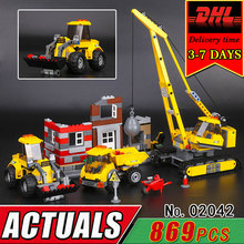 DHL LEPIN 02042 The Demolition Site City Series Children Educational Building Blocks Set Compatible 60076 Bricks Classic Toy Kid(China)
