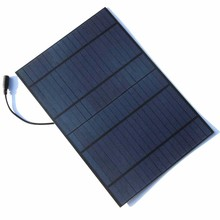 BUHESHUI 10W 18V Polycrystalline Solar Panel Modul PET Solar Cell 12V Battery Charger 5521 DC Bus Free Shipping