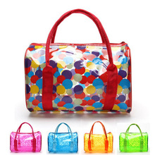 2017 Summer Beach Bag Women's Jelly Handbags Crystal Messenger Bags Candy Color Totes Bag Transparent Bags(China)