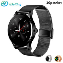 DHL 10pcs/lot Metal SmartWatch K88H Smart Watch Track Wristwatch MTK2502 Heart Rate Monitor Pedometer Dialing for IOS Android