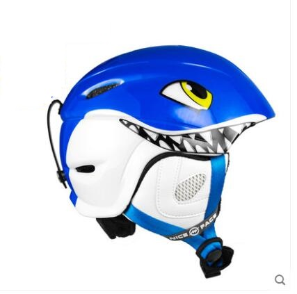 Blue Tactical Outdoor Bicycle Motorcycle ABS Helmet With Goggles Multifunction