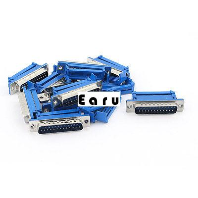 10 Pcs D-SUB DB25 25 Pin Male IDC Crimp Connector for Flat Ribbon Cable<br><br>Aliexpress