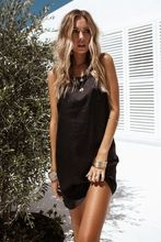 Fashion Boho Sleeveless Casual Summer Dress Sundress Solid Color Backless Dresses Sexy Women's Summer Clothing