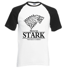 Buy hot sale Game Thrones raglan tee House Stark letters Winter Coming t shirt 2017 summer hot sale 100% cotton top tees S-2XL for $7.98 in AliExpress store