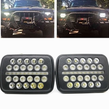 "70w 7X6"" LED Headlight DRL Conversion Sealed Beam for Jeep Cherokee XJ Trucks 5x7""LED Headlight DRL Hi/Lo Beam For Toyota Pickup(China)"