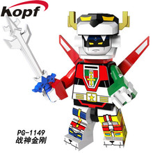 Single Sale Super Heroes The God of War King Kong Voltron Team Godmars Movie Series Building Blocks Toys for children PG1149(China)