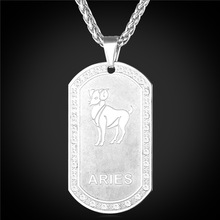 Kpop 12 Zodiac Pendent & Necklace Unisex Jewelry Silver Color Classic Design Pendent Necklace Women Men Jewelry 2016 New P290(China)