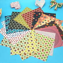 20Pcs Home Decor Colorful DIY Paper Crafts Scrapbooking Paper Origami Lucky Star Heart Shaped Craft Folding Crane Paper 15*15CM(China)