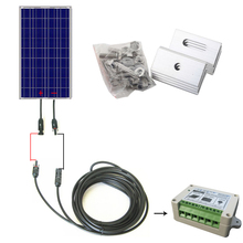 COMPLETE KIT 100W Solar Panel Cells Off Grid System with Controller Cable(China)