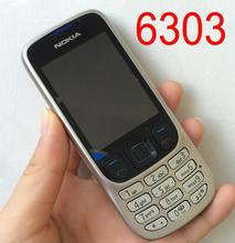 Original Refurbished Nokia 6303 Mobile Phone 6303c Classic Cellphone Russian Keyboard Arabic Keyboard(China)