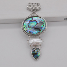 Natural White Pearl New Zealand Abalone Shell Pendant Fashion Jewelry For Woman Gift S150(China)
