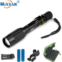 RU Portable LED Diving Camping Hunting Lamp Light Torch Lanternas Powerful Waterproof LED Military Police Flashlight Lamp Torch