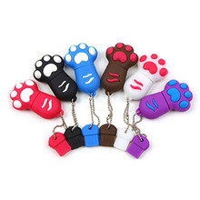 USB flash Drive 4GB 8GB 16GB Cat paw Pen drive Cartoon pendrive 32GB USB Memory Stick Disk Flash Drive 64GB USB Flash Key Chain(China)