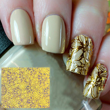 1pcs DIY Water Transfer Nails Art Sticker Golden Fantacy Flowers Decoration for Nail Stickers Foil Sticker Manicure Accessories(China)