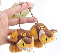 24PCS Kawaii 8CM Delicate BUS Totoro Toy Keychain doll , Stuffed Plush Toy Doll ; Pendant Toy Decor Plush Toys