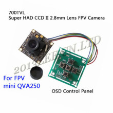 700TVL Super HAD CCD II 2.8mm Lens FPV Camera + OSD Control Panel