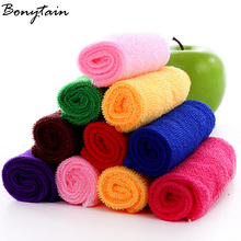 Hot 10Pcs/lot Square Soft Car Bathroom Hand Face Microfiber Cotton Bath Towel  House Wash Cloth Cleaning Care Terry Towel
