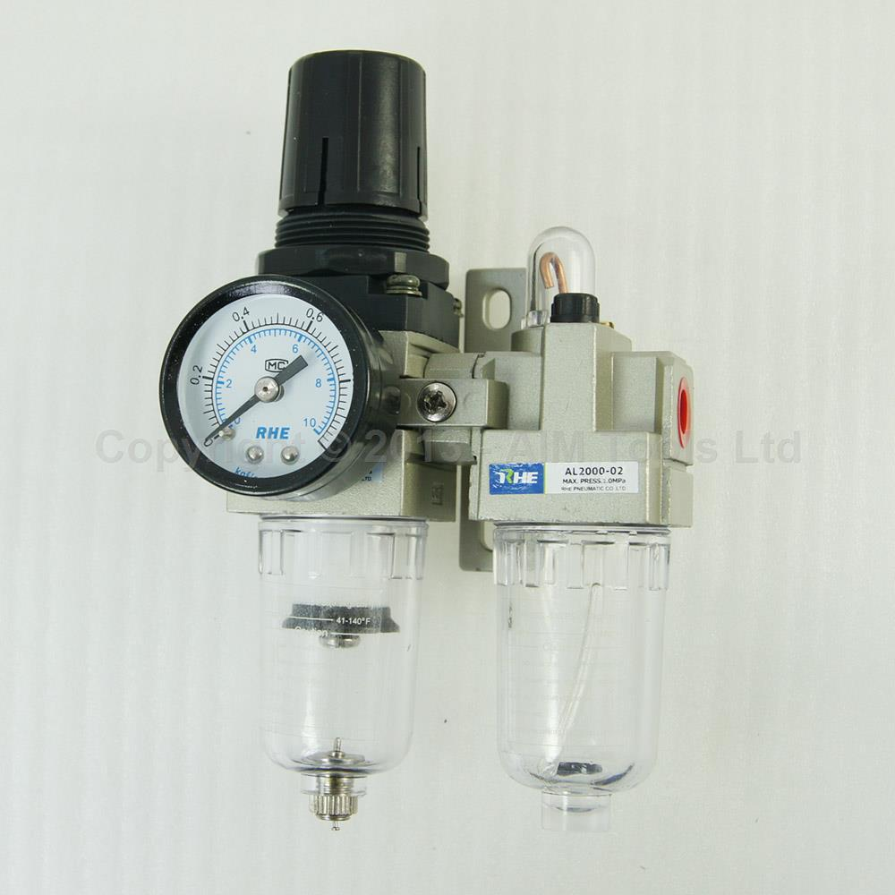 Industrial Air Filter Moisture Water Trap Pneumatic Tools Oil Lubricator AC2010-02<br>