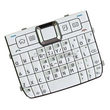 White Color New Housing Home Function Main Keypads Keyboards Buttons Cover Case For Nokia E71 , Free Shipping