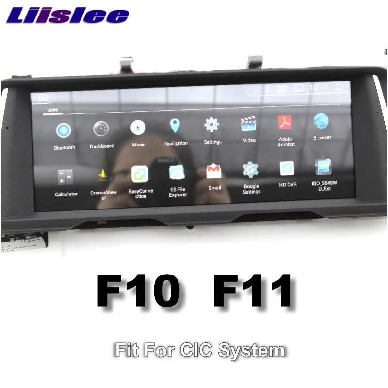 For BMW 5 Series F10 F11 2010~2012 LiisLee Car Multimedia GPS Audio Hi-Fi Radio Stereo Original Style For CIC Navigation NAVI 99
