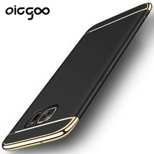 Oicgoo Luxury Case For Samsung Galaxy S7 edge S7 Case 360 Degree Protection Hard PC Mobile Bag 3 in 1 Cases For Samsung S7 edge