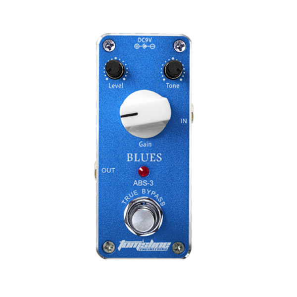 Aroma ABS-3 Mini Aluminum Alloy Housing Blues Electric Distortion Guitar Effect Pedal with Magic Tape Low Power Consumption<br>