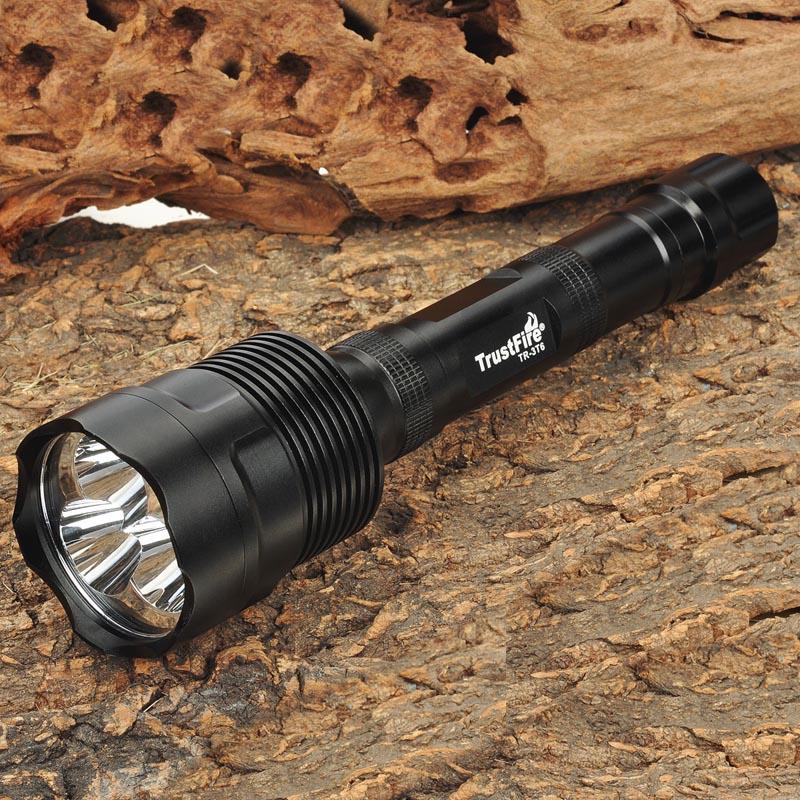 TrustFire TR-3T6 XM-L T6 5-Mode 2500lm Memory 3-LED White Flashlight<br>