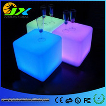 led bar chair 25cm / led cube chair RGBW colorful change via remote rechargeable or wires powered(China)