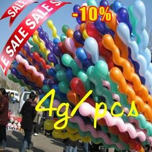 High Quality 4g/pcs100pcs/lot Screw Balloons Long Spiral Latex screw Balloon for Festival Party Decoration Balls Toys