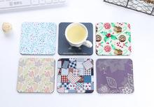 freeshipping 20pcs Creative Square Coasters Coffee Coasters Cup Cushion Cup Mat wholesale(China)