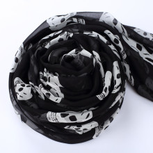 New 2016 High Quality Real Silk Skull Scarf Women Ladies Shawls And Scarves Female Winter Scarf 195*65cm