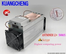 Buy Spot ANTMINER L3+ LTC 504M scrypt miner LTC Mining Machine 504M 800W wall Better ANTMINER L3 Can get BTC nicehash for $798.00 in AliExpress store