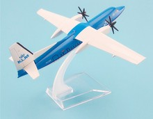 16cm Metal Alloy Plane Model Air KLM Fokker F-50 F50 Airways Airlines Airplane Model w Stand Aircraft Gift