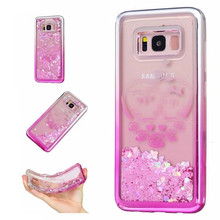 For Samsung Galaxy S8 S8 plus Cace Dynamic Liquid Glitter Star Quicksand Plating tpu case for Galaxy S7 EDGE hard back cover