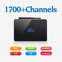 Dalletektv X92 European IPTV TV Box Android 6.0 Smart 4K Set Top Box with HD IUDTV IPTV France Italy UK Sweden Spain Arabic