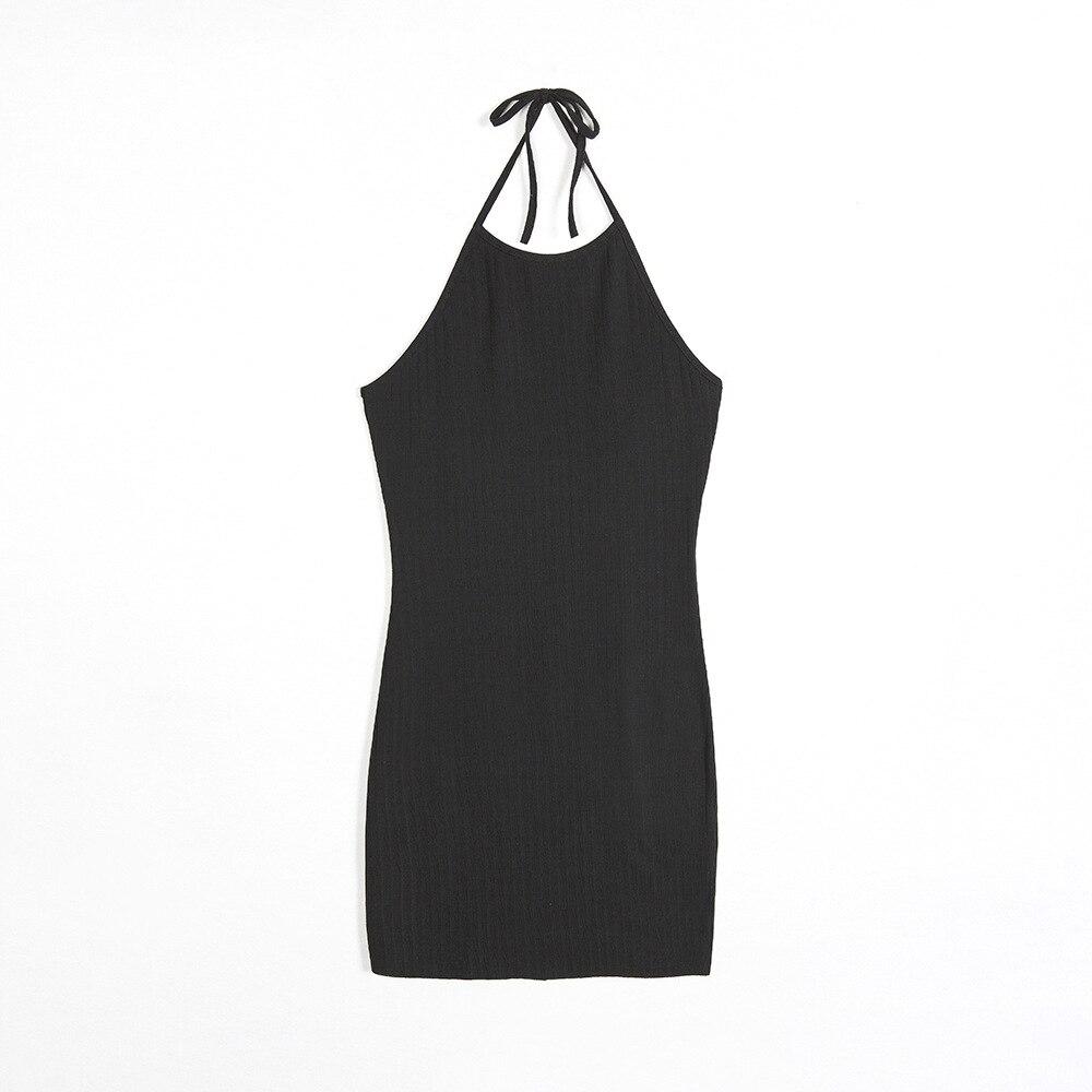 Women Sexy Club Backless Spaghetti Strap Summer Dress 2018 Cotton Ladies Elastic Bodycon Black Yellow Party Mini Dresses Vestido 11
