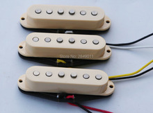 Vintage Single Coil Pickups for Strat/Tele Guitars, Braided Wiring, Alnico 5 Magnets, Ivory
