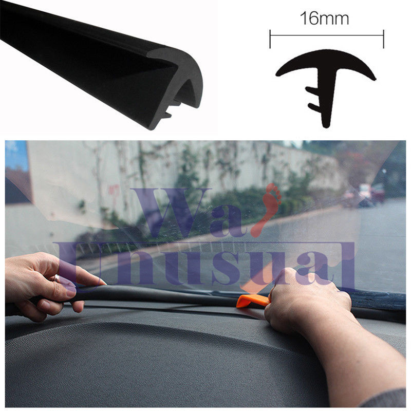 Rubber 1.6m Soundproof Dustproof Sealing Strip for Auto Car Dashboard Windshield 7
