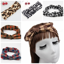12pcs Leopard zebra stripes Printed  for women children Headwrap Bow headband Hair Tie hair band Twisted Knot Head Wrap FD6548